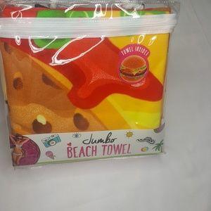 Other - Hamburger Beach Towel Circular Burger Oversized